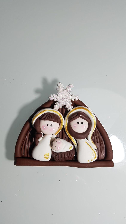 Belen Pesebre Iman Realizado a mano en Porcelana fria Navidad: Amazon.es: Handmade