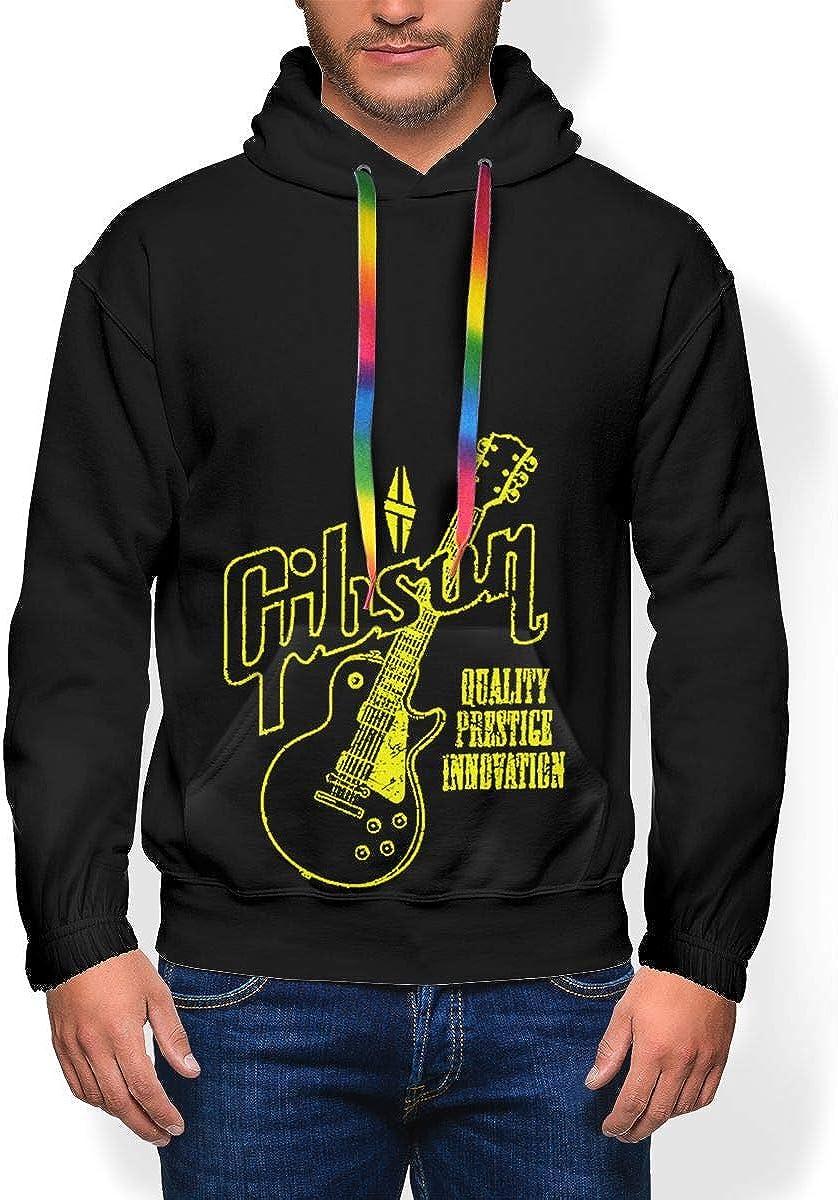 Gibson Guitar Logo Les Paul Lpj Sg Mens Winter Jacket Clothes Plus Velvet Long Sleeve Hooded Sweat Shirt Pullover