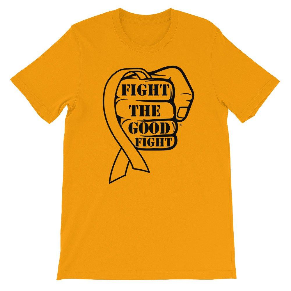 Fight The Good Fight Gold Ribbon Short-Sleeve Unisex T-Shirt
