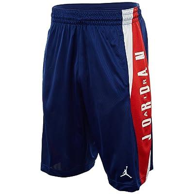 (ジョーダン) Jordan ウェア ハイライト サイド ショーツ バスパン AJ Hightlight Shorts Blk/Blk/Wht バスケットボール [並行輸入品]