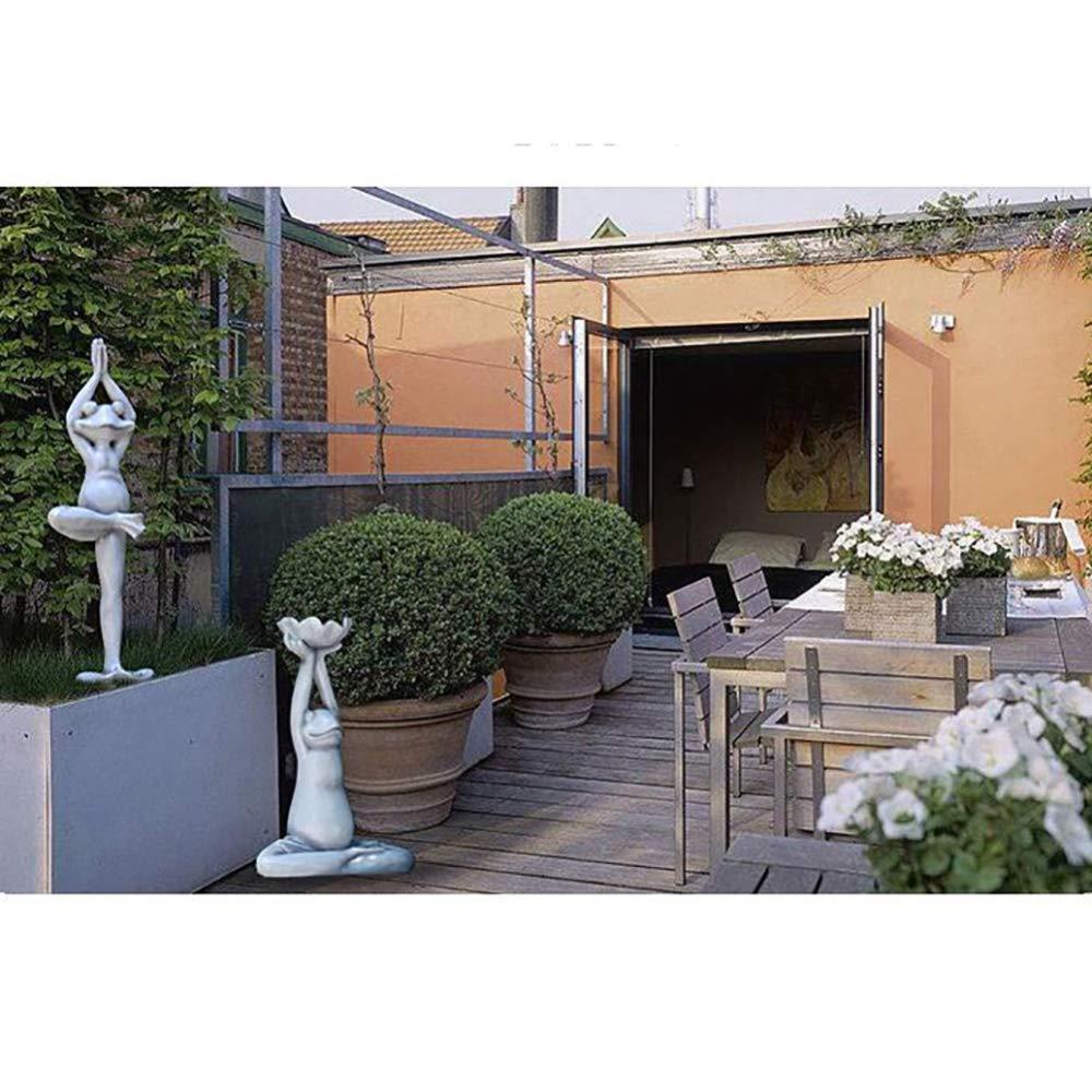 32 zenggp D/écoration De Jardin Yoga Grenouille Patio Grande Cour D/écorations Spa Clubhouse Balcon Auberge Balcon D/écor,C+43 52cm