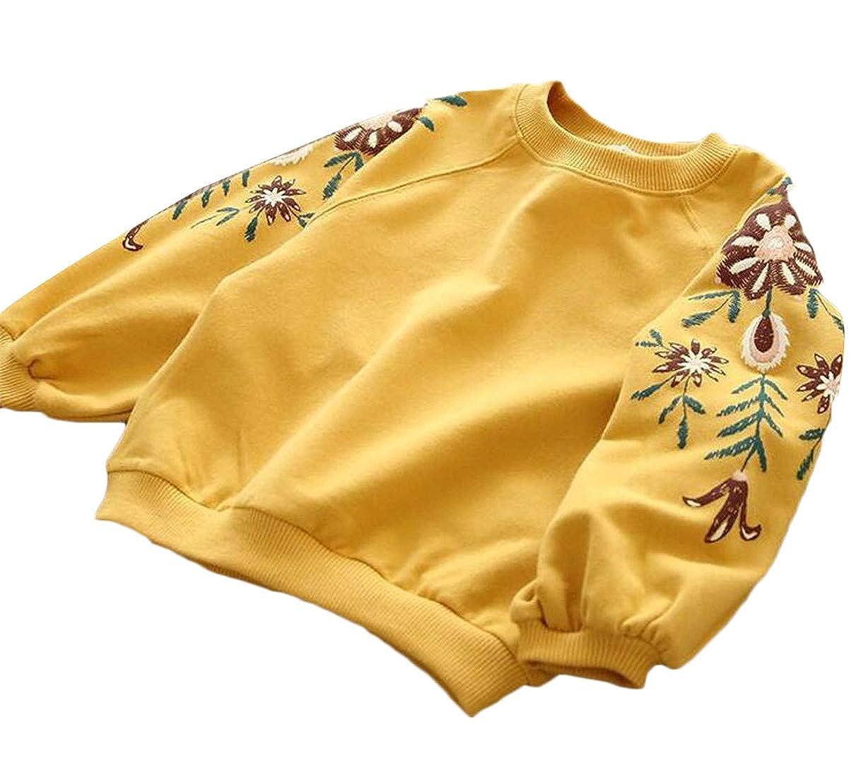 Lutratocro Girls Loveliness Long Sleeve Graphic Crewneck Pullover Sweatshirts
