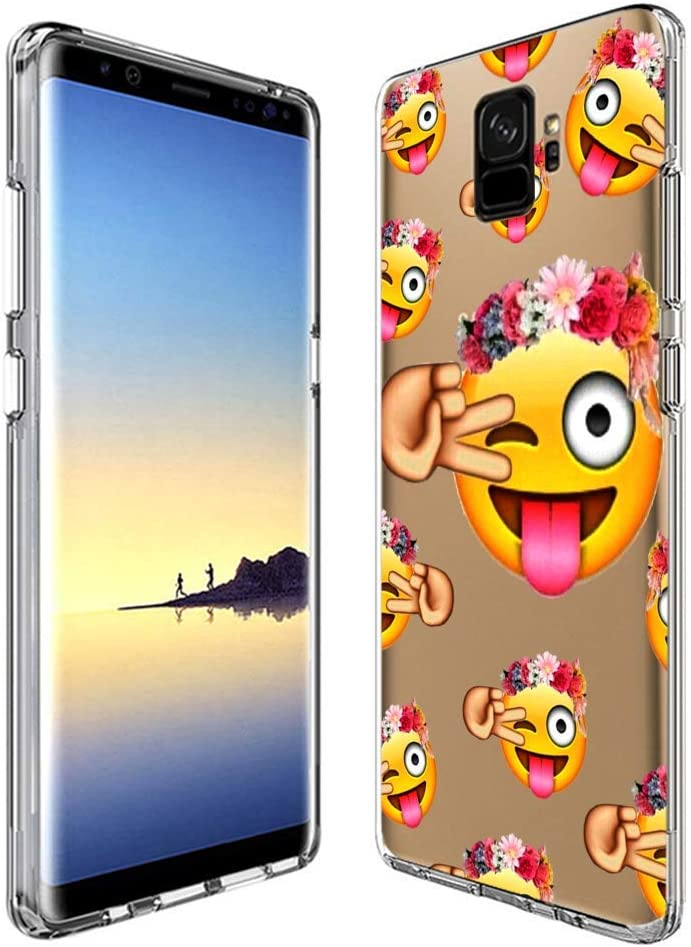 Amazon Com Personalized Emoji Wallpaper For Girls Samsung Galaxy S9 Phone Case Clear Silicone Protective Case For Samsung Galaxy S9