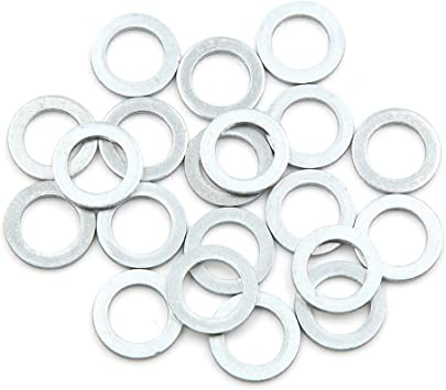 12mm OD for Car X AUTOHAUX 50pcs Engine Oil Crush Washers Drain Plug Gaskets 8mm ID