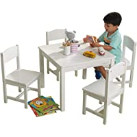 KidKraft Farmhouse Table and Chair Set, White