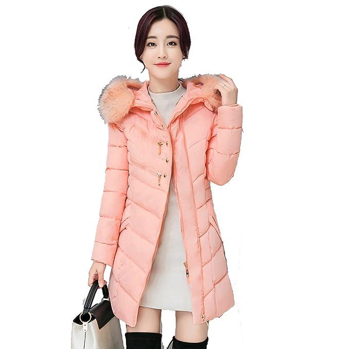 nihiug Eiderdown Outwear Down Coat Down Chaqueta Estudiante Abrigo Cotton Ladies Long Jacket Winterwear XL: Amazon.es: Ropa y accesorios