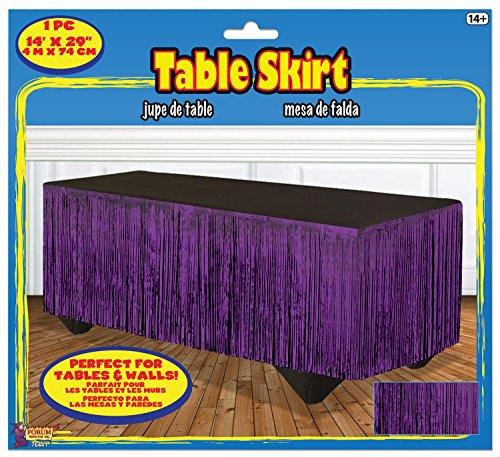 Forum Novelties 76441 Tinsel Fringe Table Skirt, 144