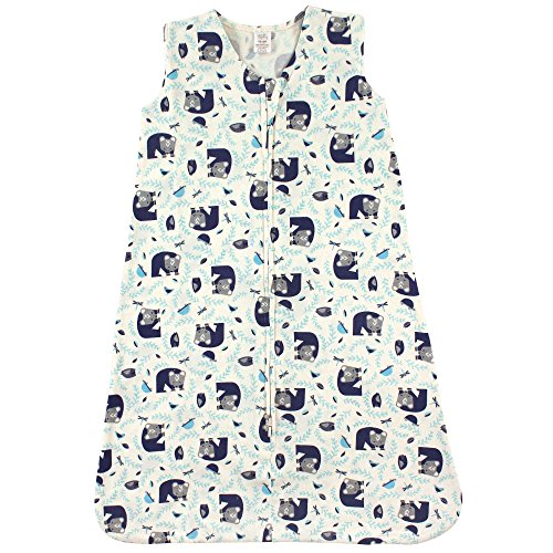 Touched by Nature Baby Infant Organic Cotton Wearable Safe Printed Sleeping Bag, Woodland, 0-6 Months