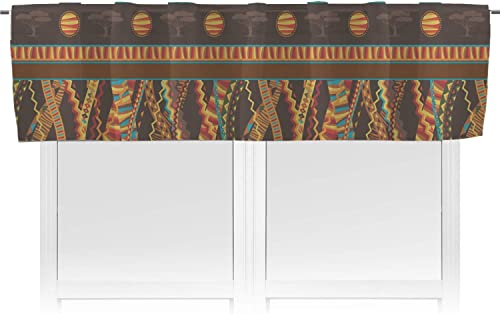 RNK Shops African Lions Elephants Valance Personalized