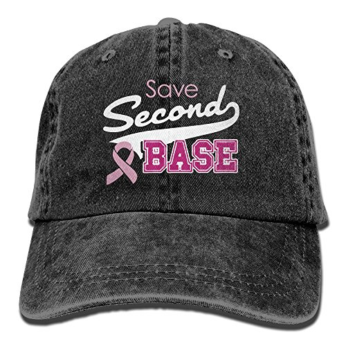 (AJG25_ids Baseball Cap For Men and Women, Save Second Base Mens Cotton Adjustable Denim Cap Hat)