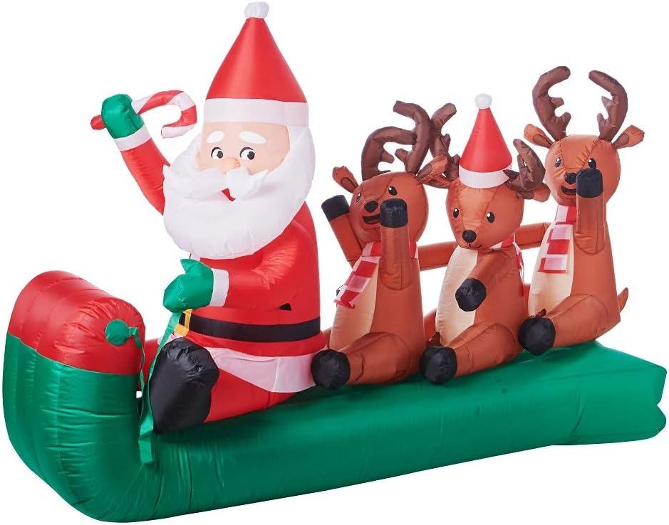 Airblown Holiday Santa Claus New 6.5/' Santa w// Presents Christmas Inflatable
