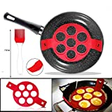 2nd Generation Silicone Pancake Mould , Non Stick Cake Maker Egg Ring Genuine Product