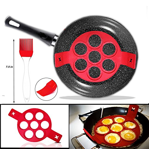 g - Makes the perfect pancakes, eggs, hash browns, brownies in non-stick silicone maker tool. Kitchen bakeware from high grade silicone ()
