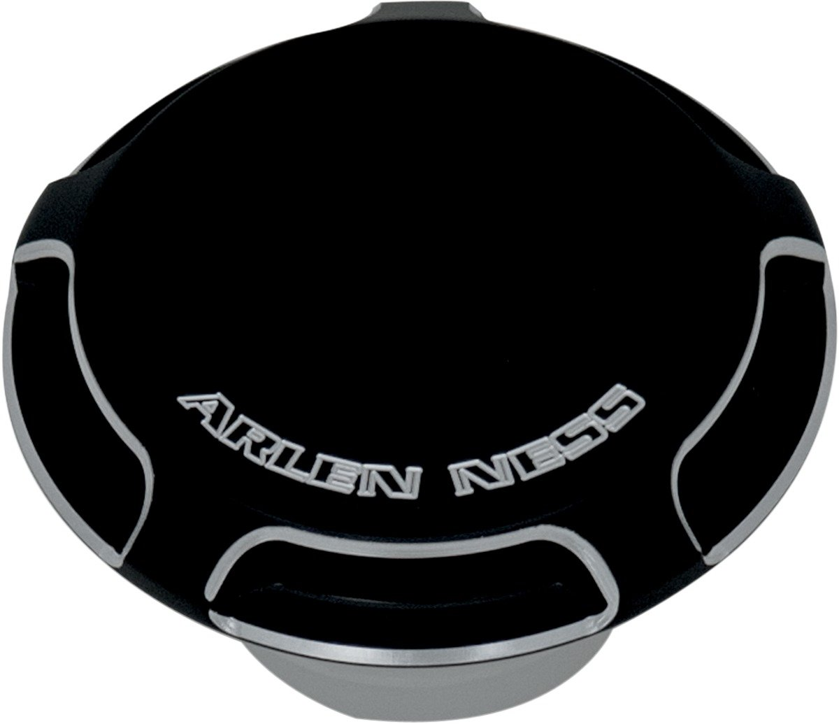 Arlen Ness 70-000 Black Billet Gas Cap/LED Fuel Gauge Cap