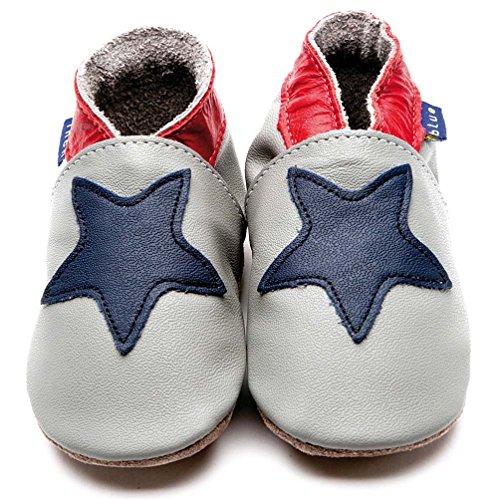 Inch Blue , Chaussures souples pour bébé (fille) Multicolore Grau/Marineblau M