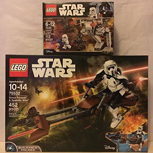 LEGO Star Wars Scout Trooper & Speeder Bike & Star Wars Imperial Trooper Battle Pack