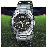 CASIO 19320 WVQ-201HW-1B - Reloj Caballero cuarzo brazalete metálico dial negro