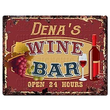 Dena S Wine Bar Blechschild Chic Rustikalen Vintage Stil Retro