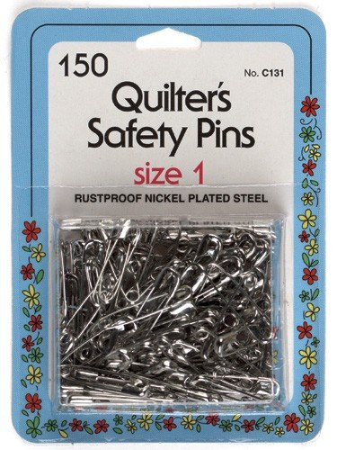 Collins C131 Quilter'S Safety Pins - Size 1 150/Pkg