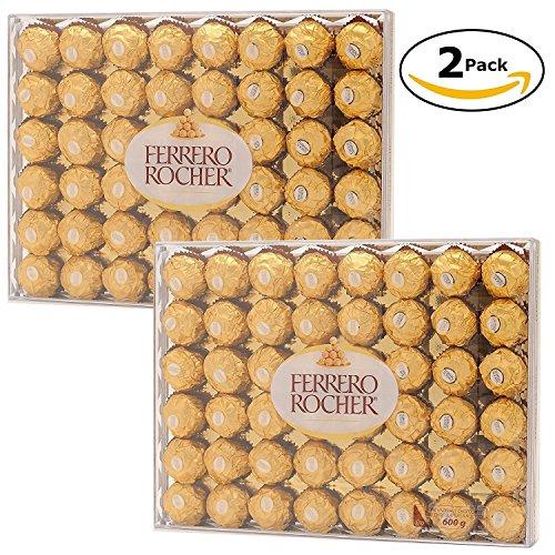 Ferrero Rocher Hazelnut Chocolate 48Count (Bundle of 2/ 96ct Total)