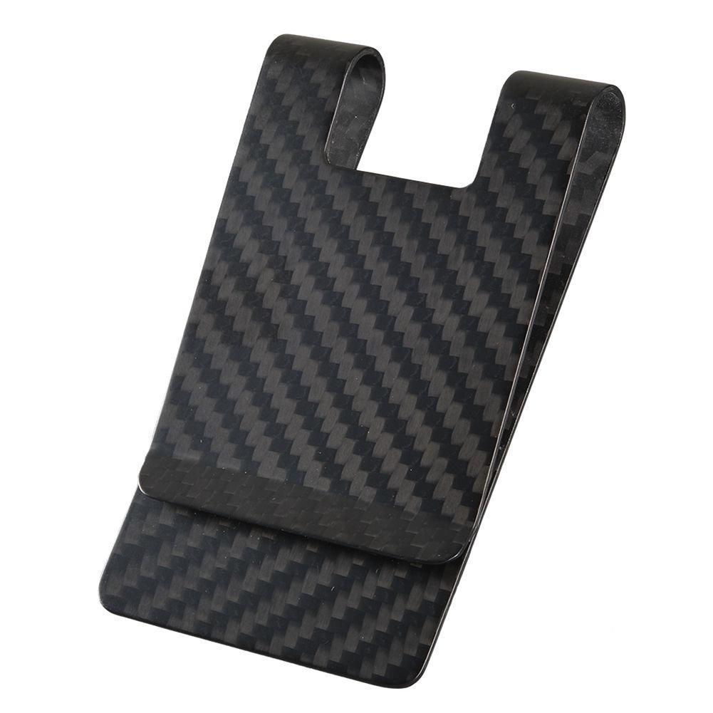 Carbon Fiber Money Clip-CL CARBONLIFE Business Card Holder RFID Protector Credit Card Holder Wallet Clips For Men (Black 3k Matte)