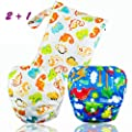 Dwave 2pcs Pack One Size Baby & Toddler Reusable Washable Swim Diapers