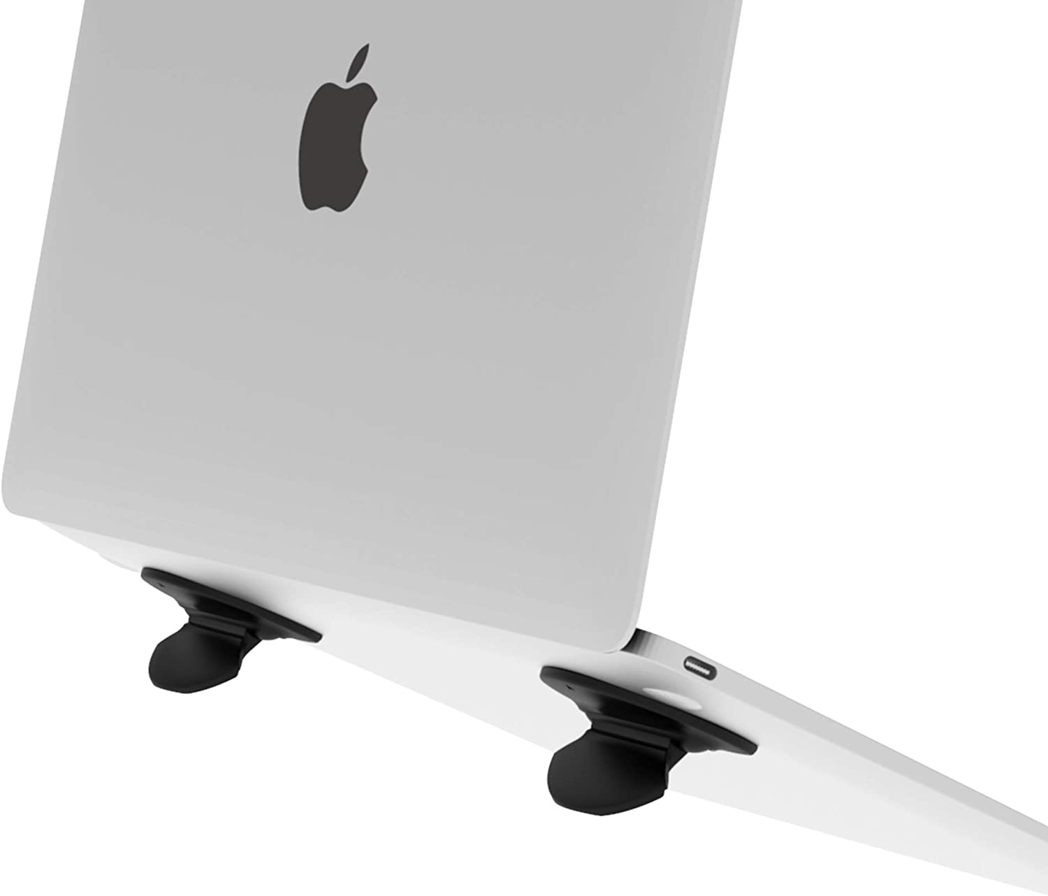 Laptop Computer Holder Desk Stand, Laptop Notebook Tablet Computer Stand for Desk Notebook Tablet Compatible with MacBook Pro, MacBook, MacBook Air, Tablets-Black