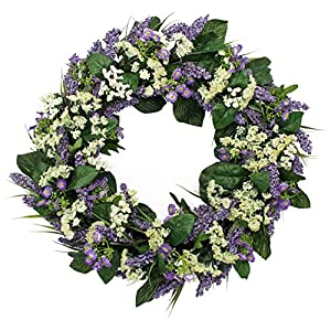 The Wreath Depot Bishops Lace Spring Front Door Wreath, 22 Inches 56