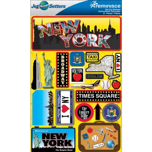 (Reminisce Jet Setters 2 3-Dimensional Sticker, New York)