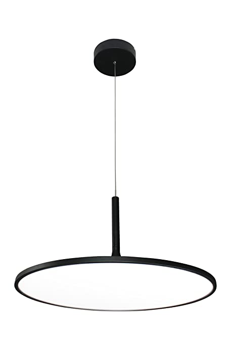 VONN VMC31820BL Modern Disc LED Chandelier Lighting With Adjustable Hanging Light Black