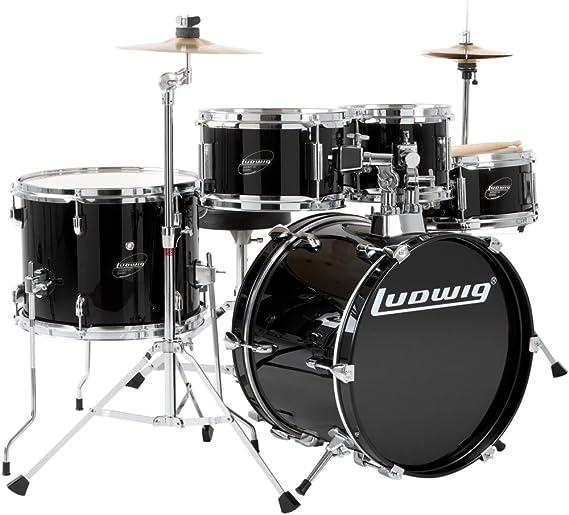 Ludwig Junior Drum Kit, Black