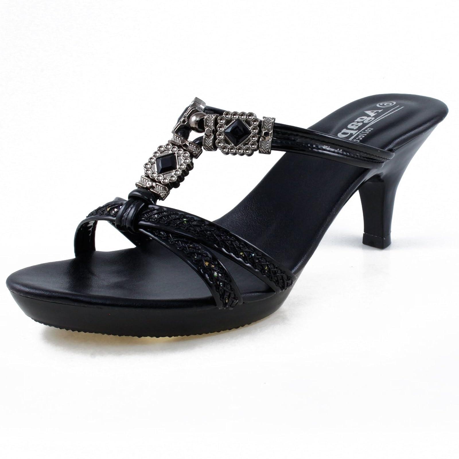 48cdf307712 ... Agape KATHLEEN-30 Jeweled Platform Heel 7.5 M US - 2 ...
