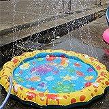 """Kid Sprinkler Pad, Womdee 40"""" Outdoor Inflatable Sprinkler Toy Sprinkle Splash Play Mat"""