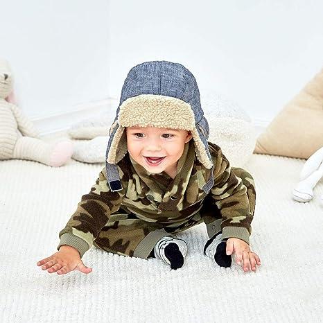 2aca91ba9565a Keepersheep Todder Baby Boys  Ushanka Earflap Winter Trooper Hat Cap