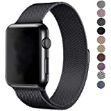 Erencook For Apple Watch Strap 38mm 42mm Magnetic Closure Clasp Mesh Loop Milanese Stainless Steel Watch Strap Replacement Bracelet Strap for iWatch Series 3/2/1 Sport & Edition, Hermes and Nike+
