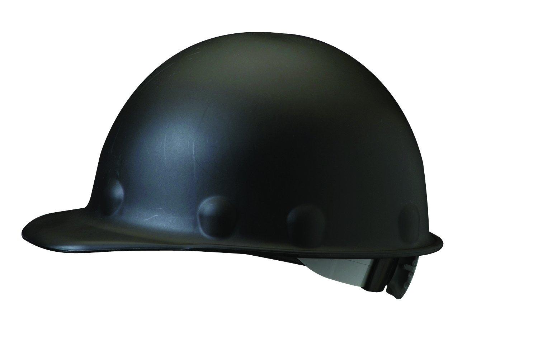 Fibre-Metal Hard Hat Injection Molded Roughneck Fiberglass with 8-Point Ratchet Suspension, Black