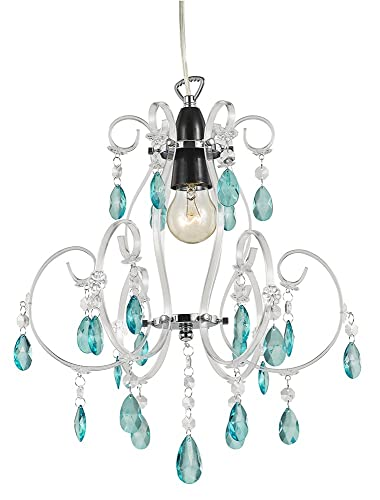 teal lovers aqua glass chandelier in chandeliers recycled lights double sky blue product fountain titania small tier slate