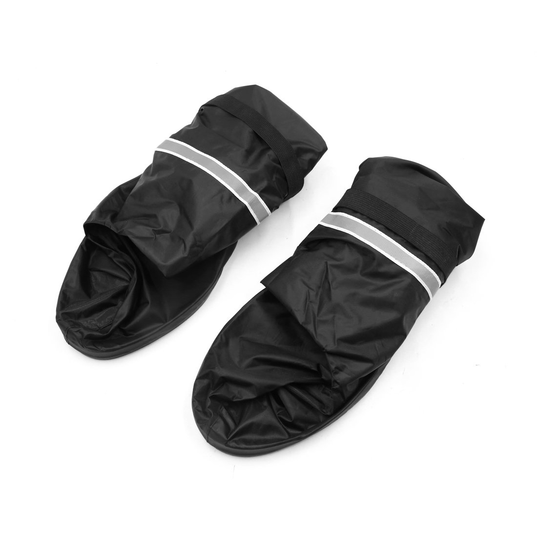 Sourcingmap Negro Impermeable Reflectante Botas de Lluvia para Moto Hombre 44 45