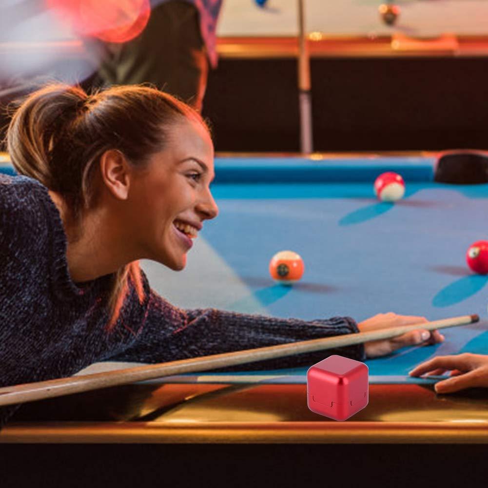 Huairdum Pool Chalk Holder Smooth Surface Aluminum Billiard Chalk Portable Mini for Clip Single Box Repair Pool Billiard Stick Rapid Tip Top Sander Snooker Accessory