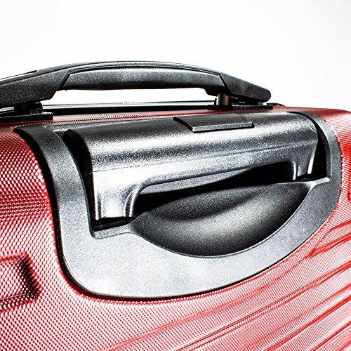 ALEKO LG915BURG ABS Luggage Travel Suitcase Set with Lock 3 Piece Horizontal Stripe Burgundy by ALEKO (Image #4)