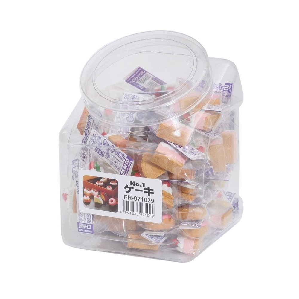 Iwako Cake erasers No.1 60pcs in a box SCER971029 (Japan Import)