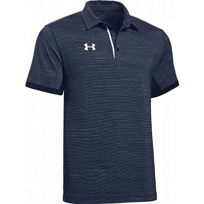 Under Armour Mens Elevated Polo (Small, Midnight Navy Heather ...