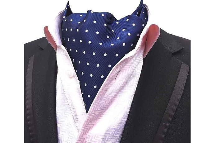Mohslee Mens Polka Dots 100 Silk Cravat Jacquard Woven Fancy Ascot