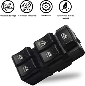 5-Button Front Left Side Window Switch for 2003-2007 Saturn Ion Sedan