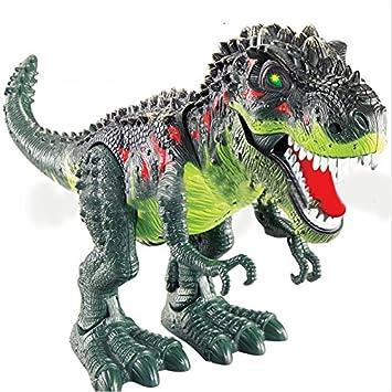 Amazon Genmine 電動 恐竜 おもちゃ ティラノサウルス 発声 発光 歩く