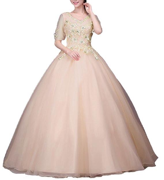 Amazon.com: ZVOCY Women\'s Quinceanera Dress Plus Size ...