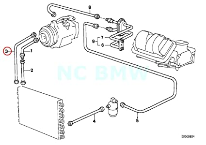 Amazon Com Bmw Genuine Pressure Hose Assy Compressor Condenser
