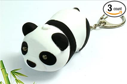 Amazon.com: Panda LED llavero con sonido 3 x Animal (Paquete ...