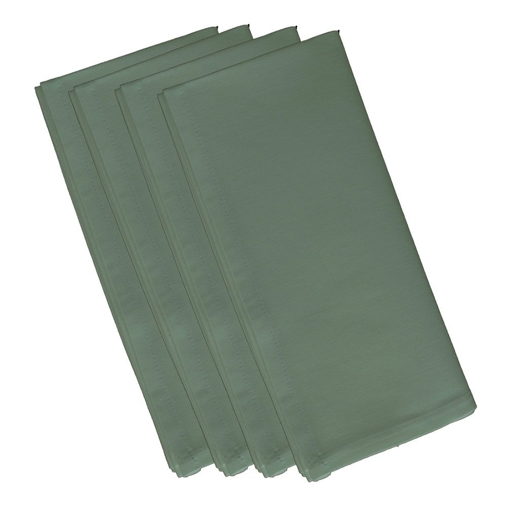 4 Piece Dusty Miller Dinner Napkin, (Set Of 4), Solid Pattern, Classic And Contemporary Style, Square Shape, Good Qualitie, Everyday Or Special Occasions, Decorative, Cotton Material, Sage Green