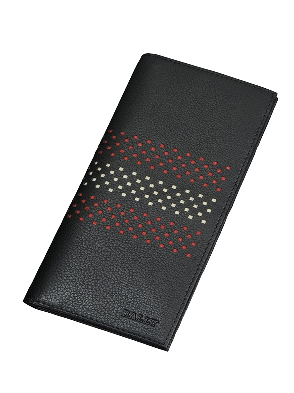 (バリー) BALLY VATAN パンチング柄長財布 ブラック [並行輸入品] B01ABIRC1U  ブラック